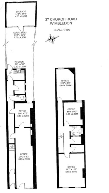 Floorplan for Church Road, Wimbledon Village, London